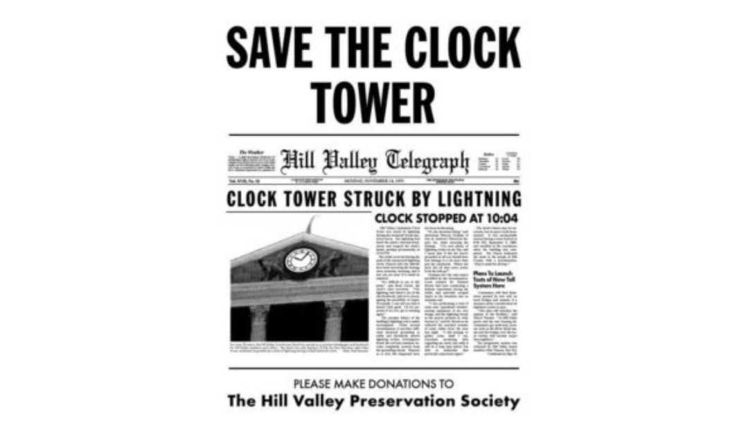 Save the Clock Tower Hour – every Monday, 8pm