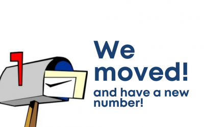 Friendly Reminder – Don't forget we moved…AND have a new phone number