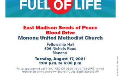Monona United Methodist Church – BLOOD DRIVE